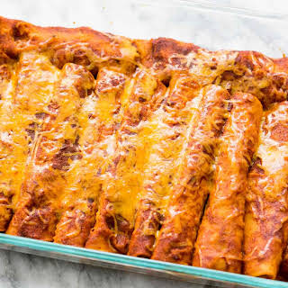 Red Chili Chicken Enchiladas.