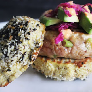 Spicy Ahi Tuna Burgers with Pickled Cabbage