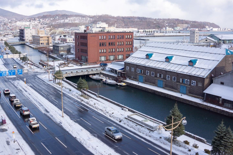 小樽運河を目の前にして。。。