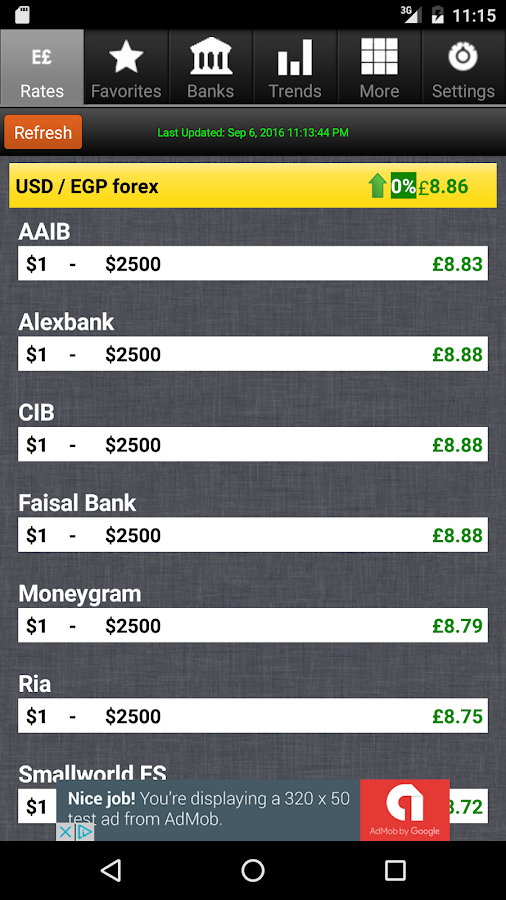 Dollar To Egypt Pound Exchange Rates Android Apps On