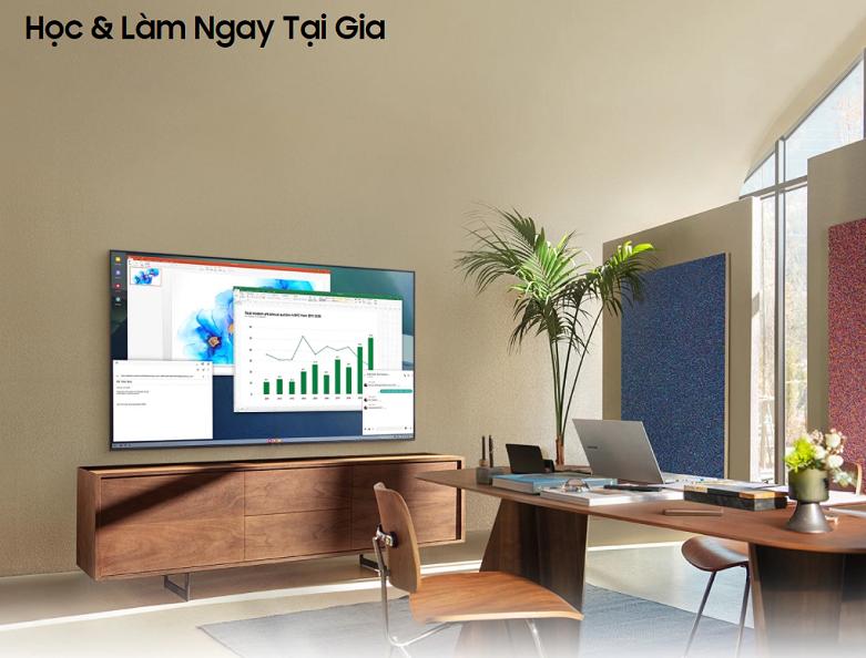 Smart Tivi Samsung 4K UHD 43 Inch UA43AU7000KXXV    Học và làm việc tại nhà