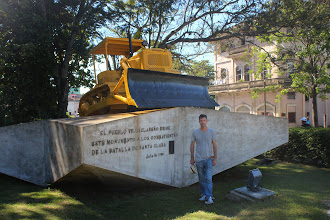 Photo: This has been used to derail the train (this was BTW the most modern device we saw in Cuba...)