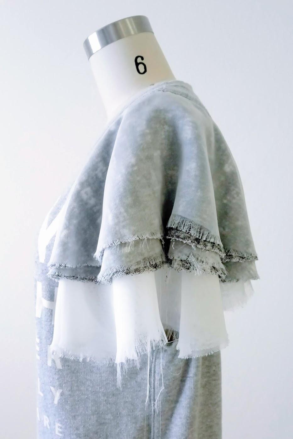 Flounce Sleeves Sweatshirt - DIY Fashion Garments | fafafoom.com