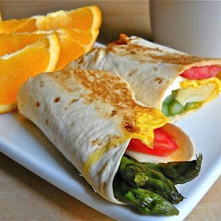 Asparagus Breakfast Wraps.