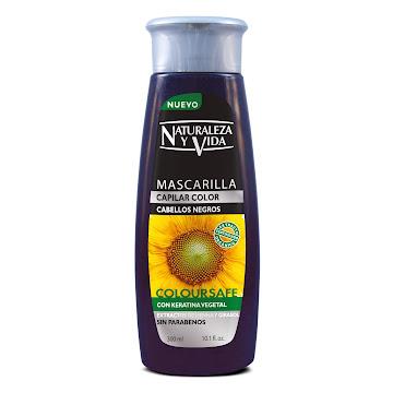 Mascarilla Capilar   NATURALEZA Y VIDA Cabellos Negros Coloursafe x300Ml
