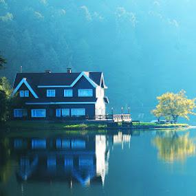 Lakehouse by Adem Yağız - Buildings & Architecture Homes ( landscae, nature, lake )