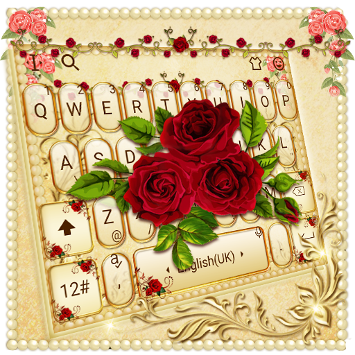 Luxurious Red Rose Golden Keyboard Theme Android APK Download Free By Bs28patel