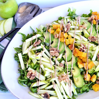 Fresh Apple Salad with Cinnamon Tahini Drizzle