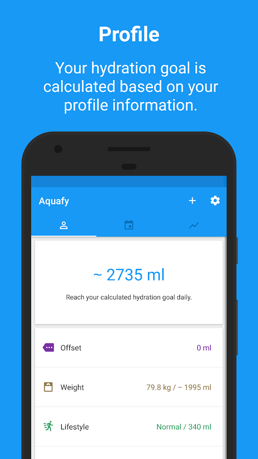 Aquafy - Hydration/ Water Drink Reminder- screenshot