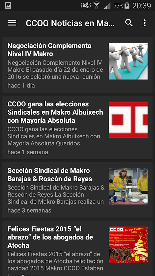 Makro CCOO- screenshot