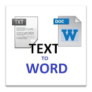 Txt to word