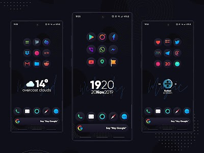 Hera Dark Icon Pack - Circle Shaped Dark Icons 3.0 (Patched)
