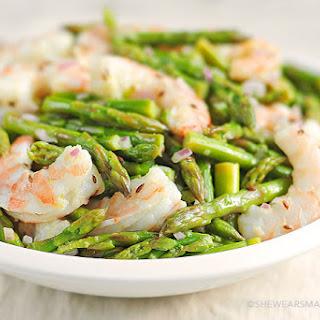 Asparagus and Shrimp Salad.