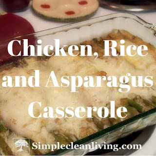 Chicken, Rice and Asparagus Casserole.