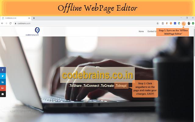 Offline WebPage Editor