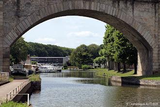 Photo: Pont chemin de fer au dessus du canal de Briare