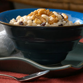 Hot Barley Breakfast with Honeyed Walnuts