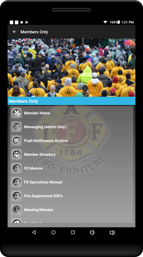 IAFF 1784- screenshot