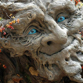 Jolly Giant by Merna Nobile - Artistic Objects Other Objects ( face, halloween objects, blue eyes )
