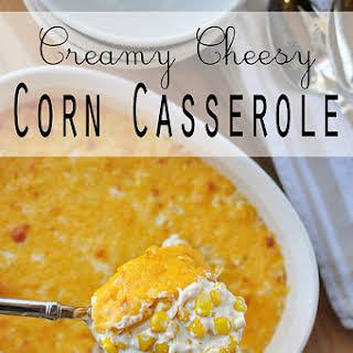 Creamy Cheesy Corn Casserole.