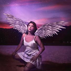 Disoriented Angel by Andrius La Rotta Esquivel - Digital Art People ( visual art, digital photography, amazing, art, composition, photographer, fotografía, angel, photography, colombia, fotografia, digital art )