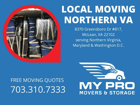 Northern Virginia Moving Company - MyProMovers 8370 Greensboro Dr #817, McLean, VA 22102 703-310-7333