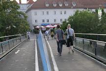Island in The Mur, Graz, Austria