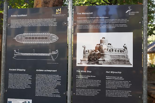 Römisches Weinschiff aus Trier Neumagen Replikat