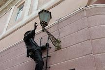Lamplighter Statue, Uzhhorod, Ukraine