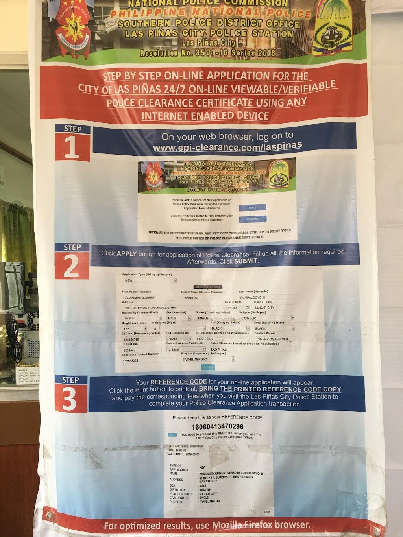 Las Piñas Police Station, Manila — Alabang–Zapote Road