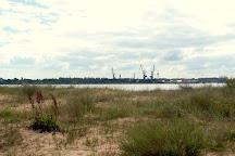 Pier in Mangalsala, Riga, Latvia