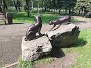 """Скульптурная композиция """"Кошки"""", улица Тольятти на фото Новокузнецка"""