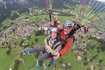 Paragliding Jungfrau, Grindelwald, Switzerland