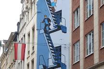 Tintin Mural Painting, Brussels, Belgium