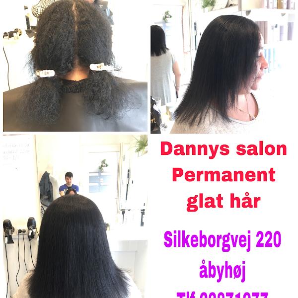 permanent glat hår frisør