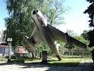самолёт МиГ-17, проспект 40 лет Октября на фото Пятигорска