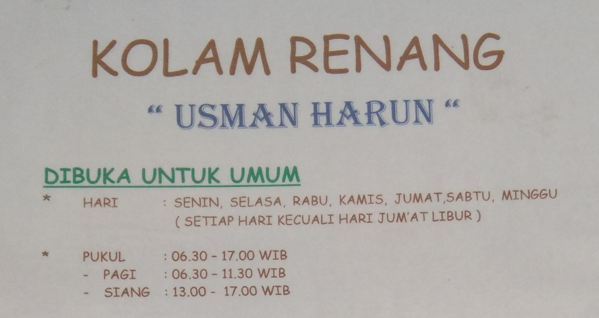 Kolam Renang KKO Usman Harun Karang Pilang