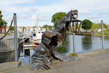Sculpture The Black Ghost, Klaipeda, Lithuania