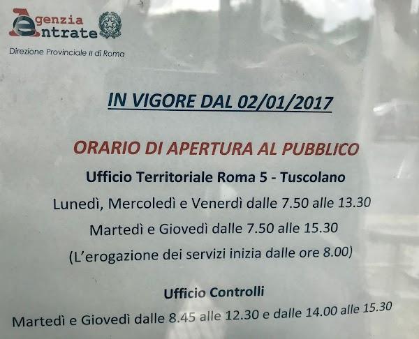 Agenzia Delle Entrate Roma 5 Via Di Torre Spaccata 110 00173 Roma Rm Italia