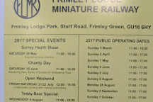 Frimley Lodge Miniature Railway, Frimley Green, United Kingdom