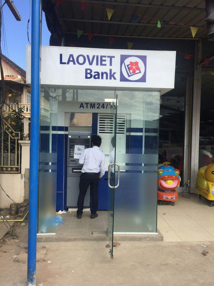 Фото Вьентьян: LaoVietBank ATM LTC Sai Lom