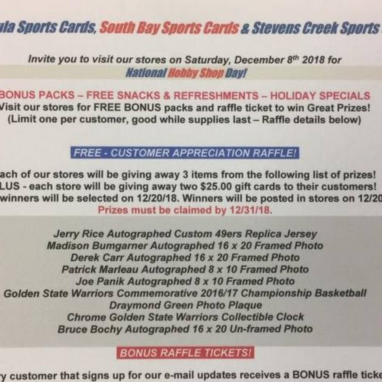 South Bay Sports Cards Sports Card Store In Sunnyvale