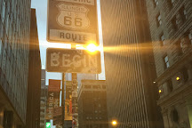 Historic Route 66 Begin Sign, Chicago, United States