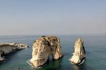 Pigeon Rocks in Raouche, Beirut, Lebanon