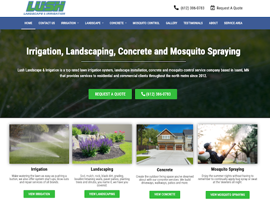 Landscaping Website Designer