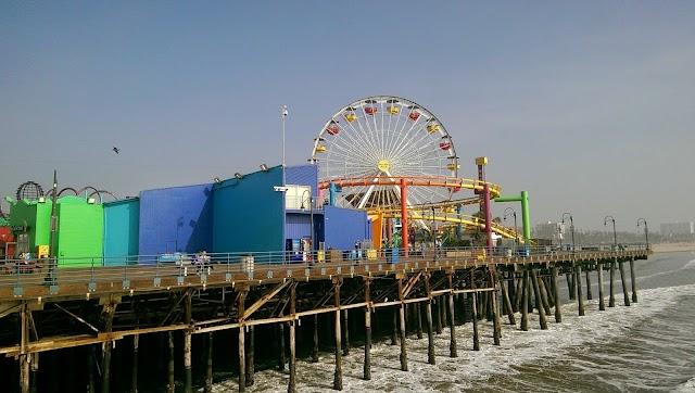 Santa Monica Pier Fishing Platform