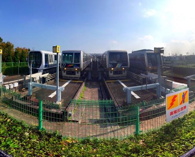 Yurikamome Ariake Train yard