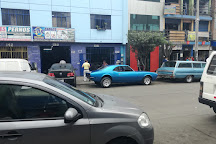 Polvos azules, centro comercial, Lima, Peru