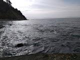 Пляж старой турбазы около Туапсе
