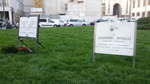 Memorial stones Giuseppe Pinelli